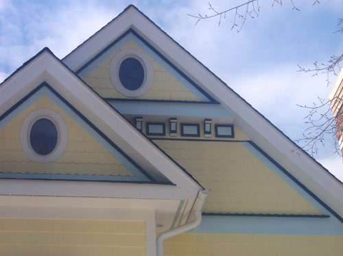 Finish front gable trim and nice paiting