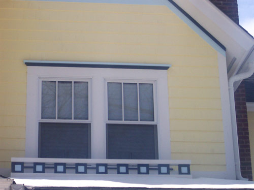 Decorative trim around the windows