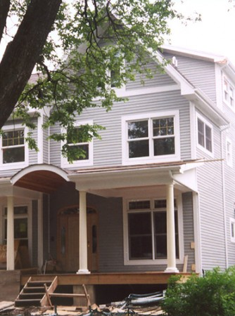 Typical cedar siding with trim