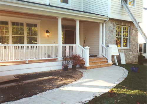 Finished front porch